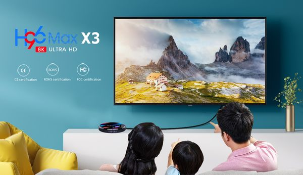 Smart tv box H96 Max X3