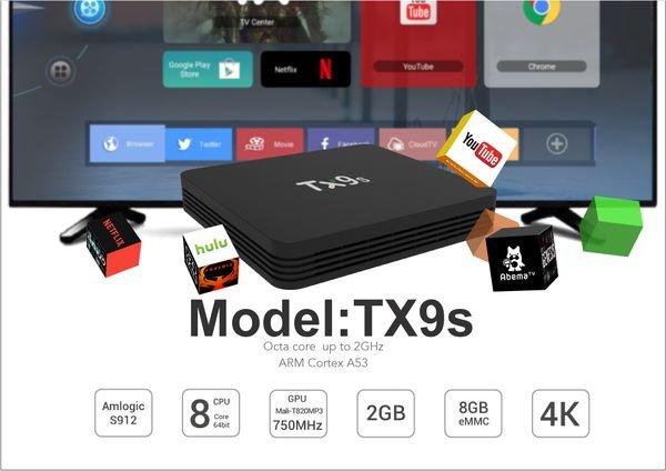 смарт тв приставка Tanix TX9S S912